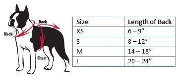 Dog Sports & College Size Charts