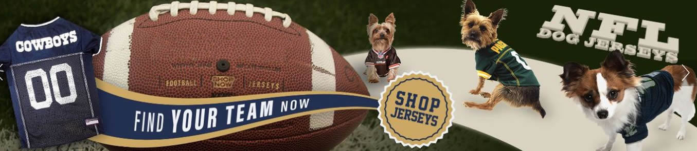 53ed6f1a2 NFL Dog Clothing - NFL Football Dog Products for Pets l Doggie Diva