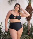 Top Trançado Rebeka Plus Size Preto