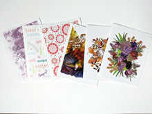 Load image into Gallery viewer, birthday penpal kit | snail mail kit | letter writing set of 6 cards
