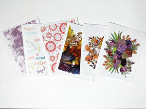 birthday penpal kit | snail mail kit | letter writing set of 6 cards
