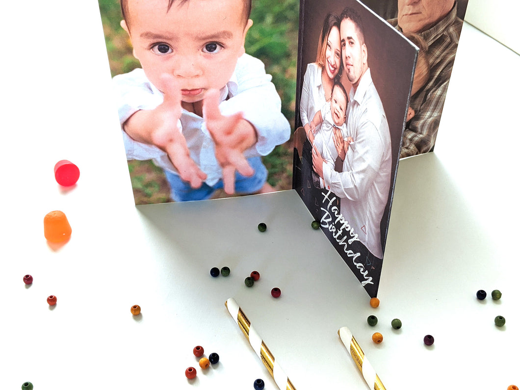 birthday rainbow | personalized photo centerpiece