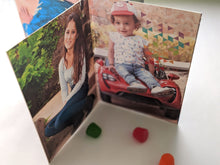 Load image into Gallery viewer, birthday rainbow | personalized photo centerpiece