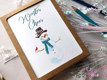 Load image into Gallery viewer, winter cheer holiday card