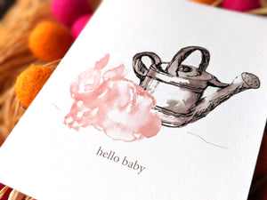 baby bunny new baby card