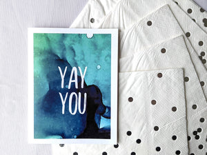 yay you | congratulations card
