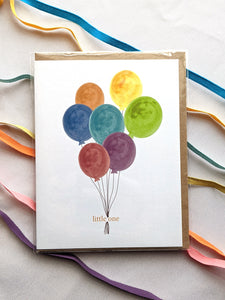 little one balloons baby card