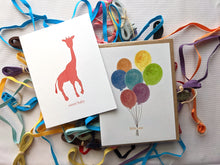 Load image into Gallery viewer, little one balloons baby card