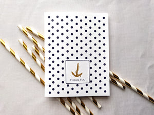 nautical dot and anchor greeting card
