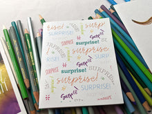 Load image into Gallery viewer, surprise birthday card | surprise annoucement