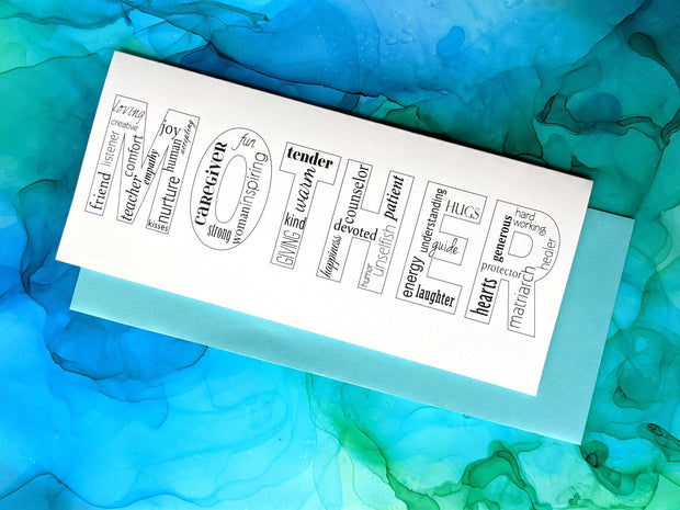 mother words greeting card 1