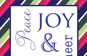 peace joy cheer merry holiday card