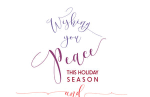 wishing you peace this holiday season and joy throughout the year holiday card
