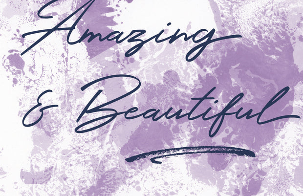 you are amazing and beautiful greeting card 1