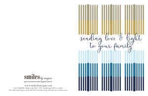 sending love and light to your family holiday card