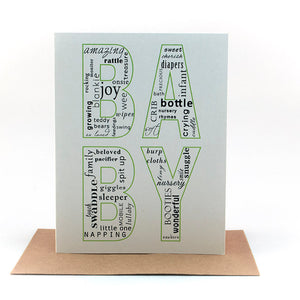 baby words baby card