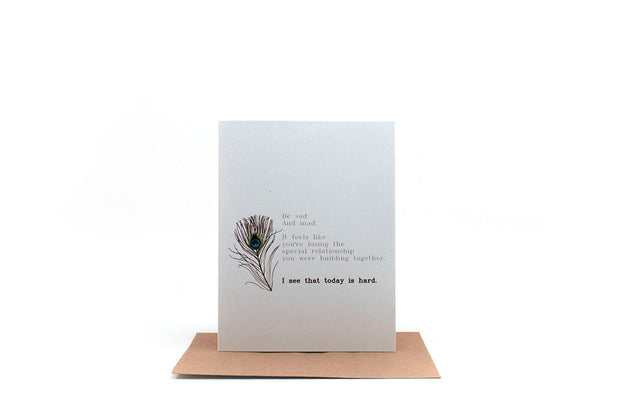 today is hard greeting card 1