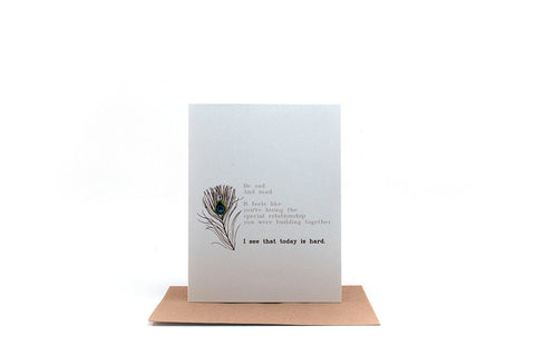 today is hard greeting card