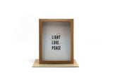 light love peace holiday card