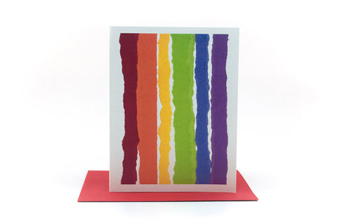 rainbow thinking of you greeting card