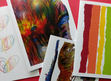 Load image into Gallery viewer, abstract painting greeting card