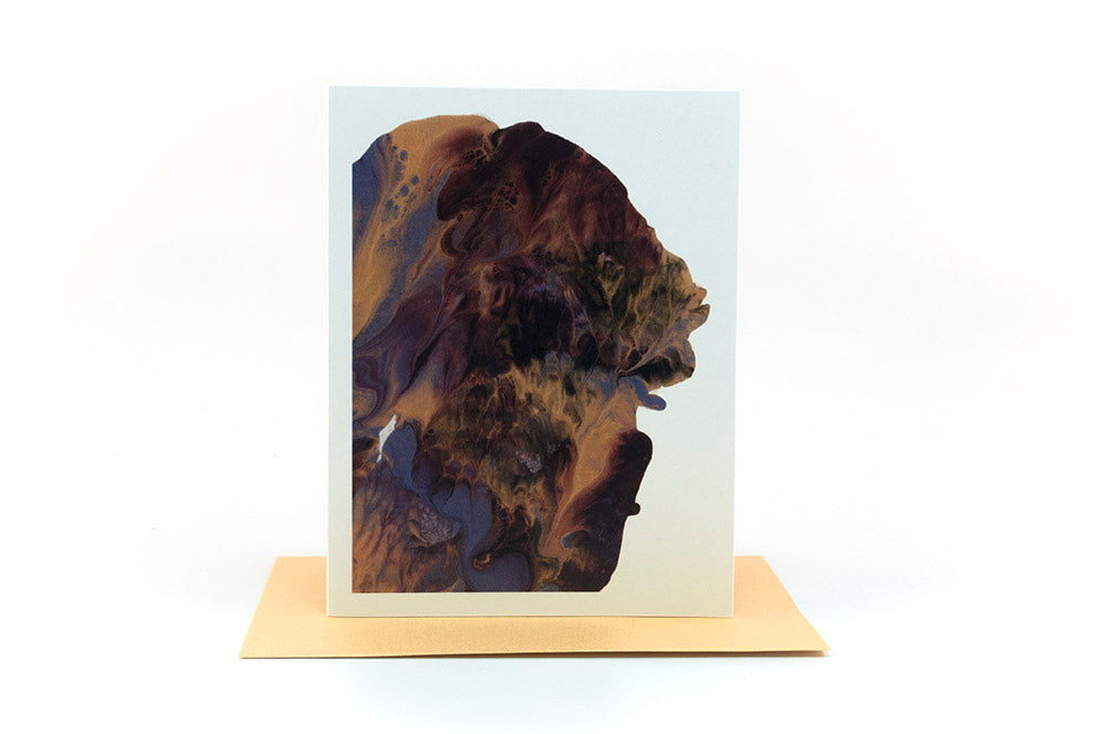 abstract painting greeting card
