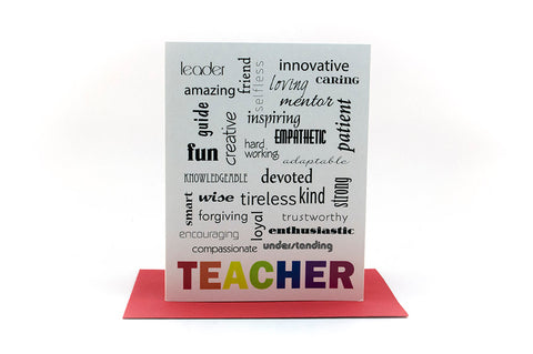 best teacher gifts greeting card
