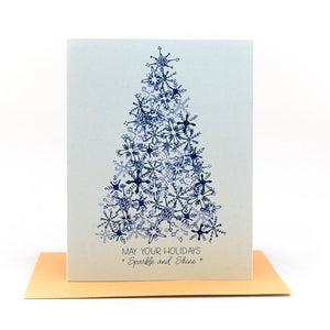 may your holidays sparkle and shine holiday card