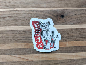 animal stickers | be courageous lion
