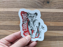 Load image into Gallery viewer, animal stickers | be courageous lion