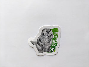 animal stickers | be persistent beaver