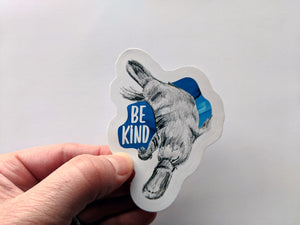 animal stickers | be kind platypus