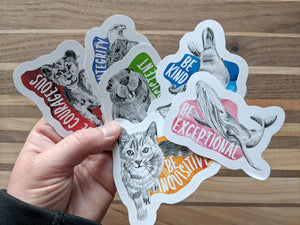 animal stickers | be exceptional whale