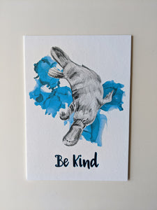animal art print | be kind platypus