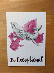 animal art print | be exceptional whale