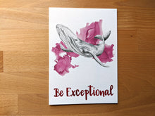 Load image into Gallery viewer, animal art print | be exceptional whale