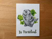 Load image into Gallery viewer, animal art print | be persistent beaver