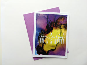 wonderful moments await | retirement card