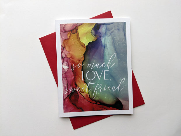 so much love, sweet friend | sympathy card 1