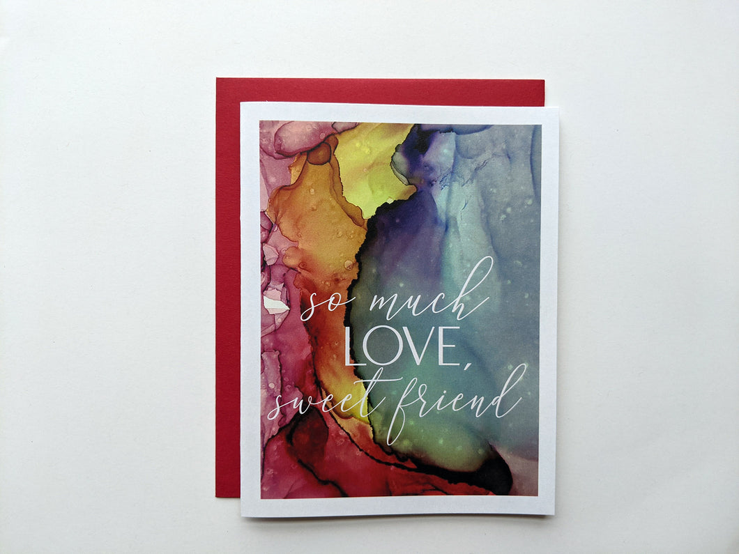so much love, sweet friend | sympathy card