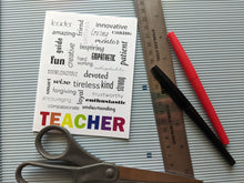 Load image into Gallery viewer, nice notes for teachers | thank you note for teacher appreciation week