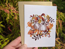 Load image into Gallery viewer, autumn leaves greeting card