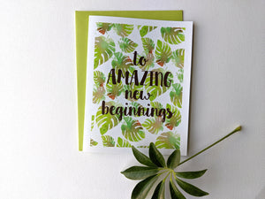 to amazing new beginnings