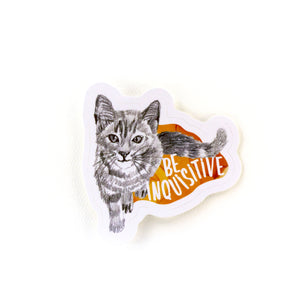 animal stickers | be inquisitive cat