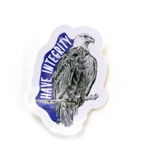 animal stickers | have integrity eagle