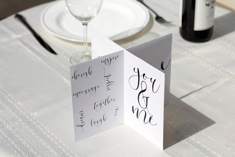 wedding centerpieces modern copperplate