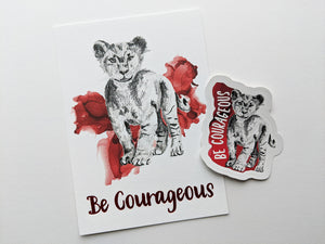 gift set | be courageous lion