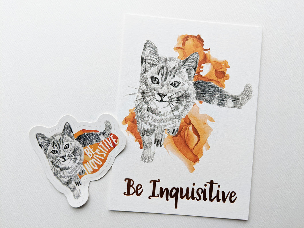 gift set | be inquisitive cat
