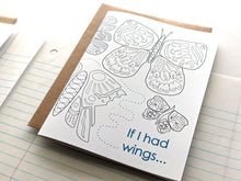 Load image into Gallery viewer, if I had wings pen pal greeting card