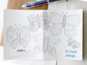 if I had wings pen pal greeting card